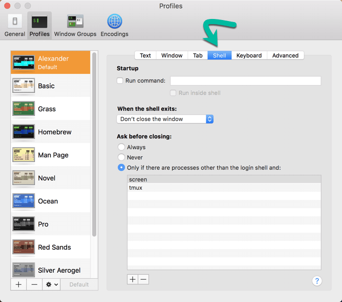 customize-terminal-macos-preferences-shell-tab