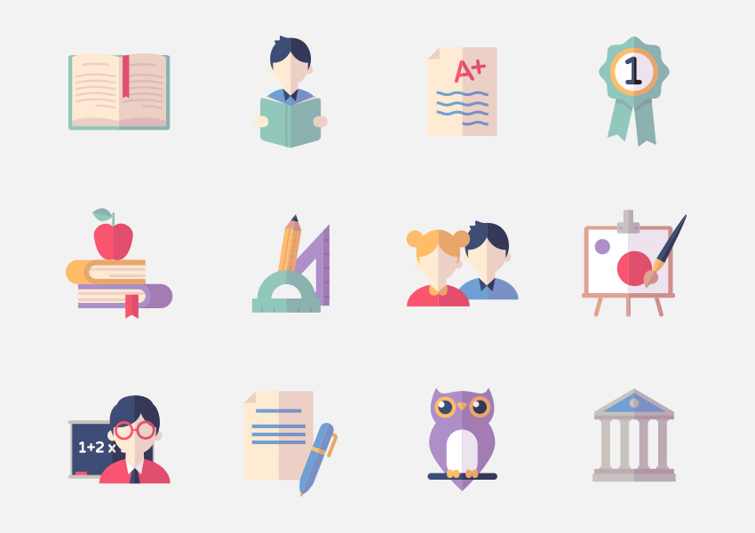 Education Icons Set 2 - Flat Series