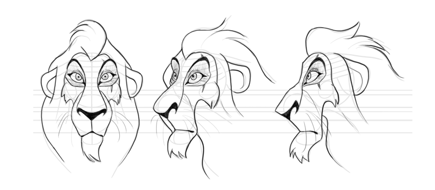how to draw scar from lion king