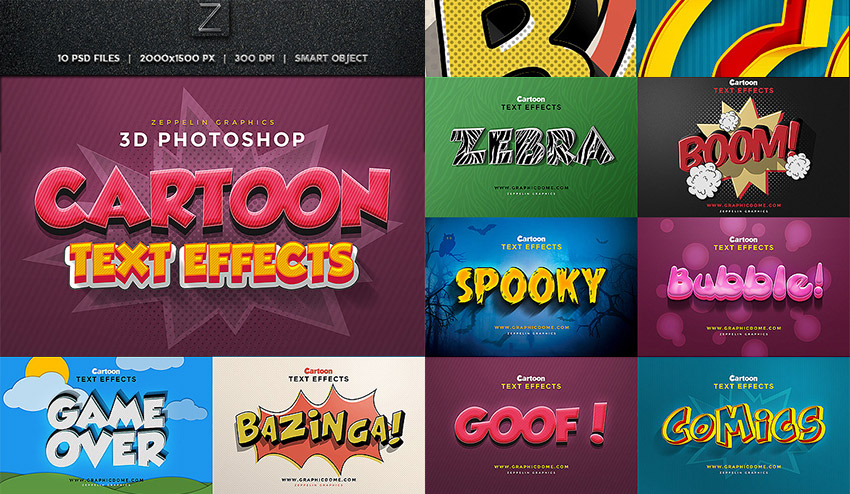 Cartoon Photoshop Text Effects