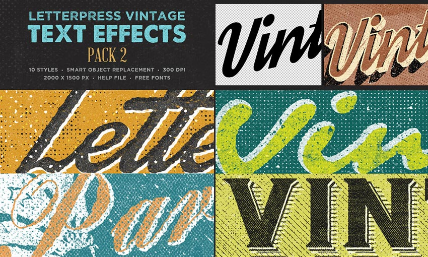 Letterpress Creative PSD Text Effects
