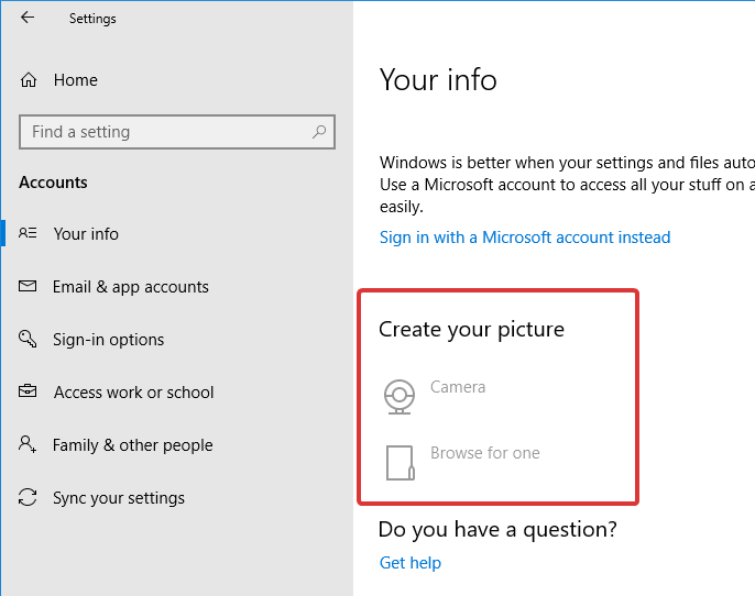 change-default-icon-win10-cannot-change-user-account-picture