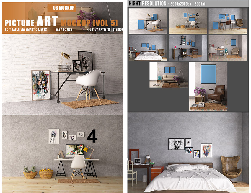 Picture Art Photoshop Mockup Design