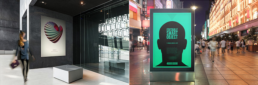 Gallery and Urban Poster Mockups