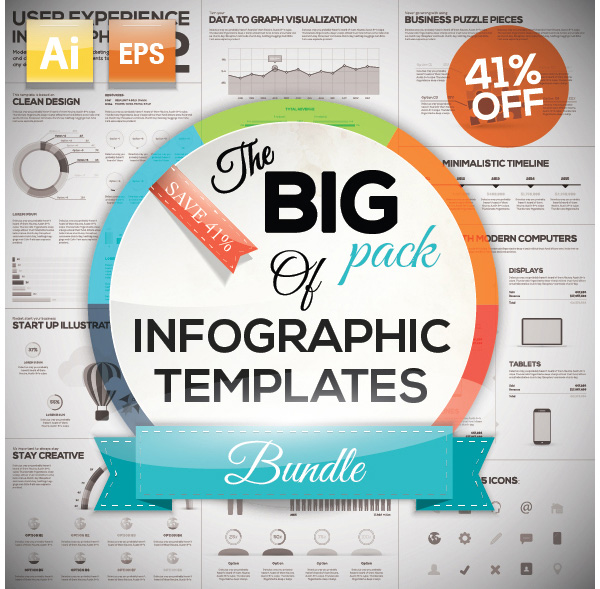 The Big Pack of Infographic Templates