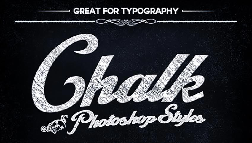 Chalkboard Photoshop Layer Styles
