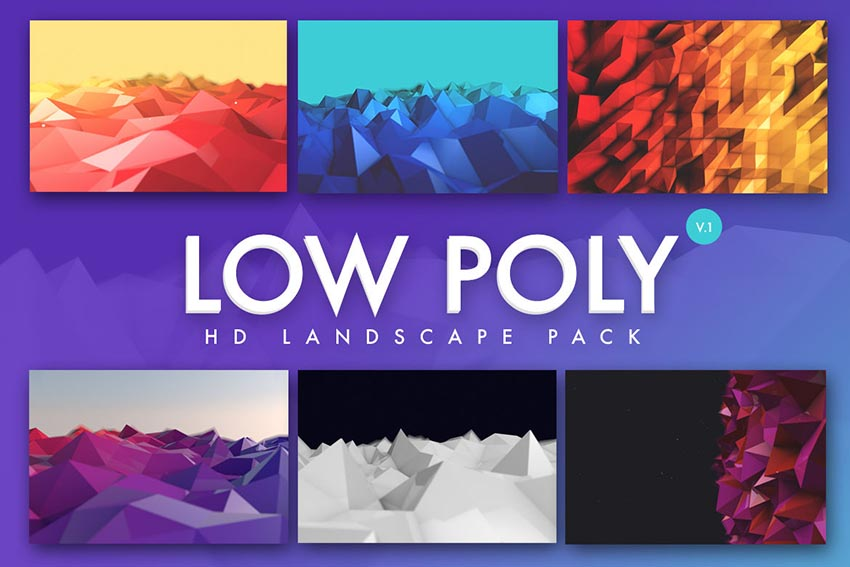 Low Poly Landscapes Backgrounds