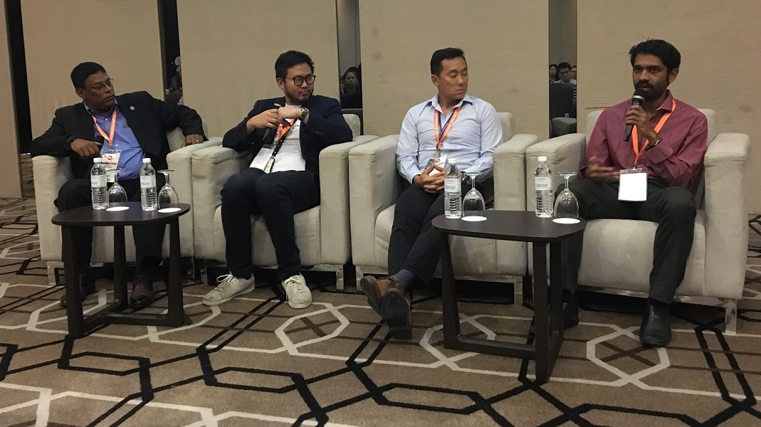 (From left) Matryzel Consulting Inc chairman and CEO Bobby Varanasi; Socar Malaysia CEO Leon Sing Foong; Supahands CEO and co-founder Mark Koh; and Amazon India Alexa evangelist Sohan Maheshwar